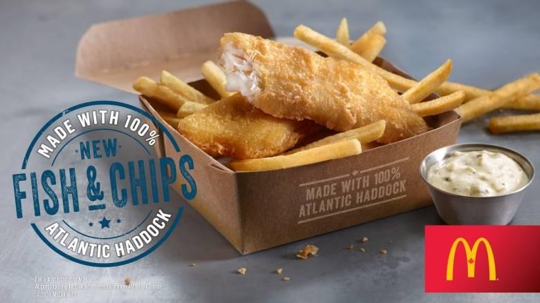 麦当劳向大西洋省限时特供炸鱼薯条