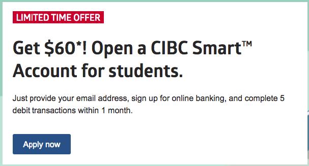 【2018】CIBC和RBC的学生账户开户奖励
