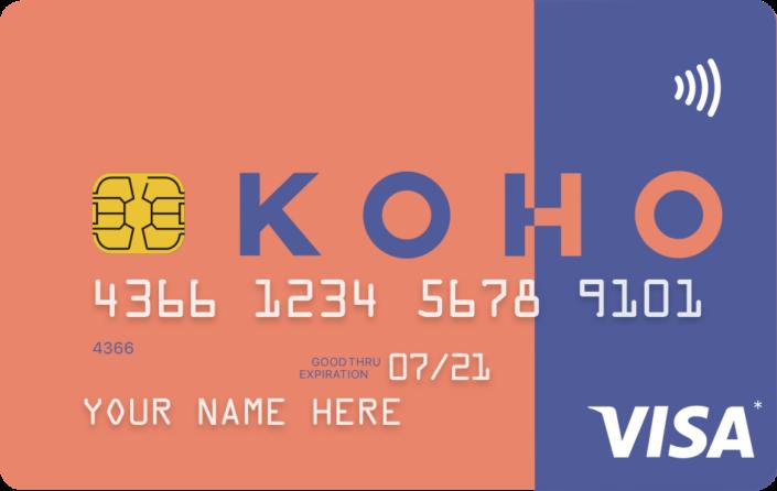 五分钟免费注册KOHO Prepaid Visa拿