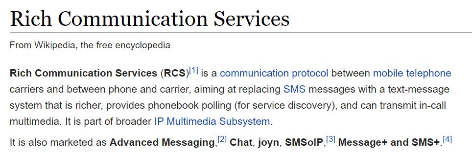 在任意Android手机上启用RCS